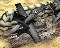 Tank trap barricade icon