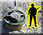 Combat pioneer place anti personnel mine icon