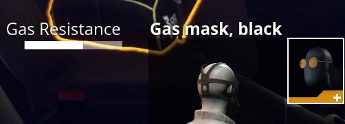 Gas mask resist increase