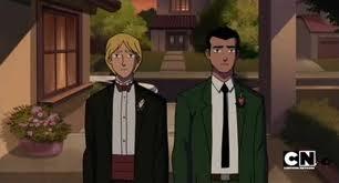 Rex and Noah wear blazers