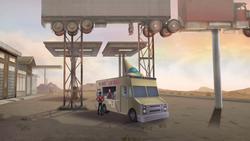 Ice cream truck hideout