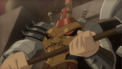 Masked gladiator