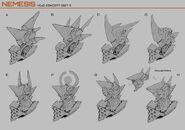 Nemesis Head Designs