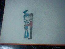 Rex Salazar x Jenny Wakeman Kiss Drawing