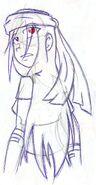 Hunter ink sketch