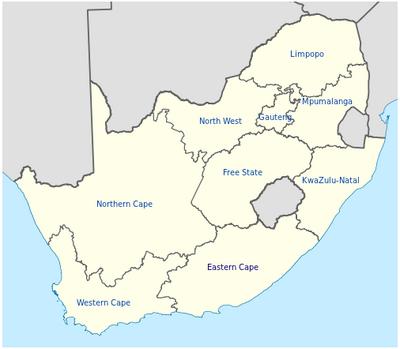 Karte suedafrika