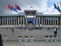 Budynek parlamentu w Mongolii