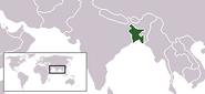Położenie Bangladeszu