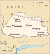 Mapa Bhutanu