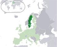 Szwecja na tle Europy