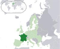 Francja na mapie Europy