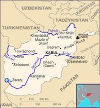 Mapa Afganistanu