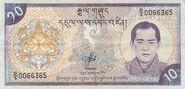 Banknot z Bhutanu