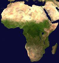 Zdjęcie satelitarne Afryki