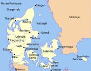 Mapa Danii