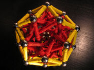 Elongated rhombic triacontahedron c