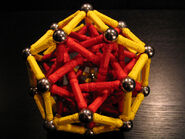 Rhombic triacontahedron near miss d