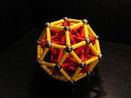 Rhombic triacontahedron near miss
