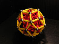 Rhombic triacontahedron near miss
