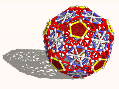 Snub exp truncated icosahedron model