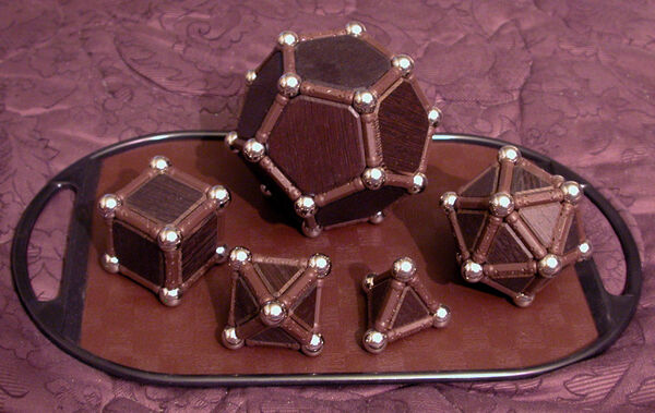 Platonic Solids in Wood