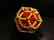 Rhombic triacontahedron near miss b