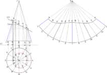 Tronc cone plan incline geometrie descriptive solution
