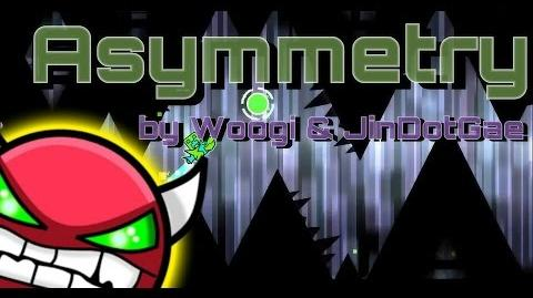 Geometry Dash - Asymmetry (New HARD Level Collab with Koreaqwer!!!) by WOOGI and Koreaqwer