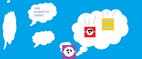 The Flight Of Cubes! Logo