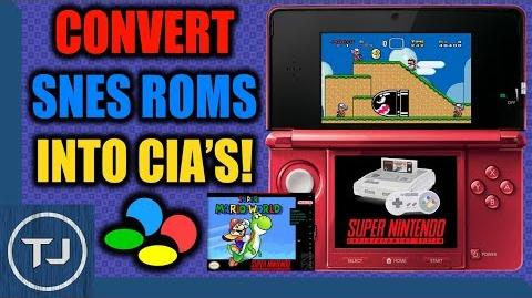 Video - Convert SNES ROM's Into CIA's & Install Them! (OLD NEW 3DS