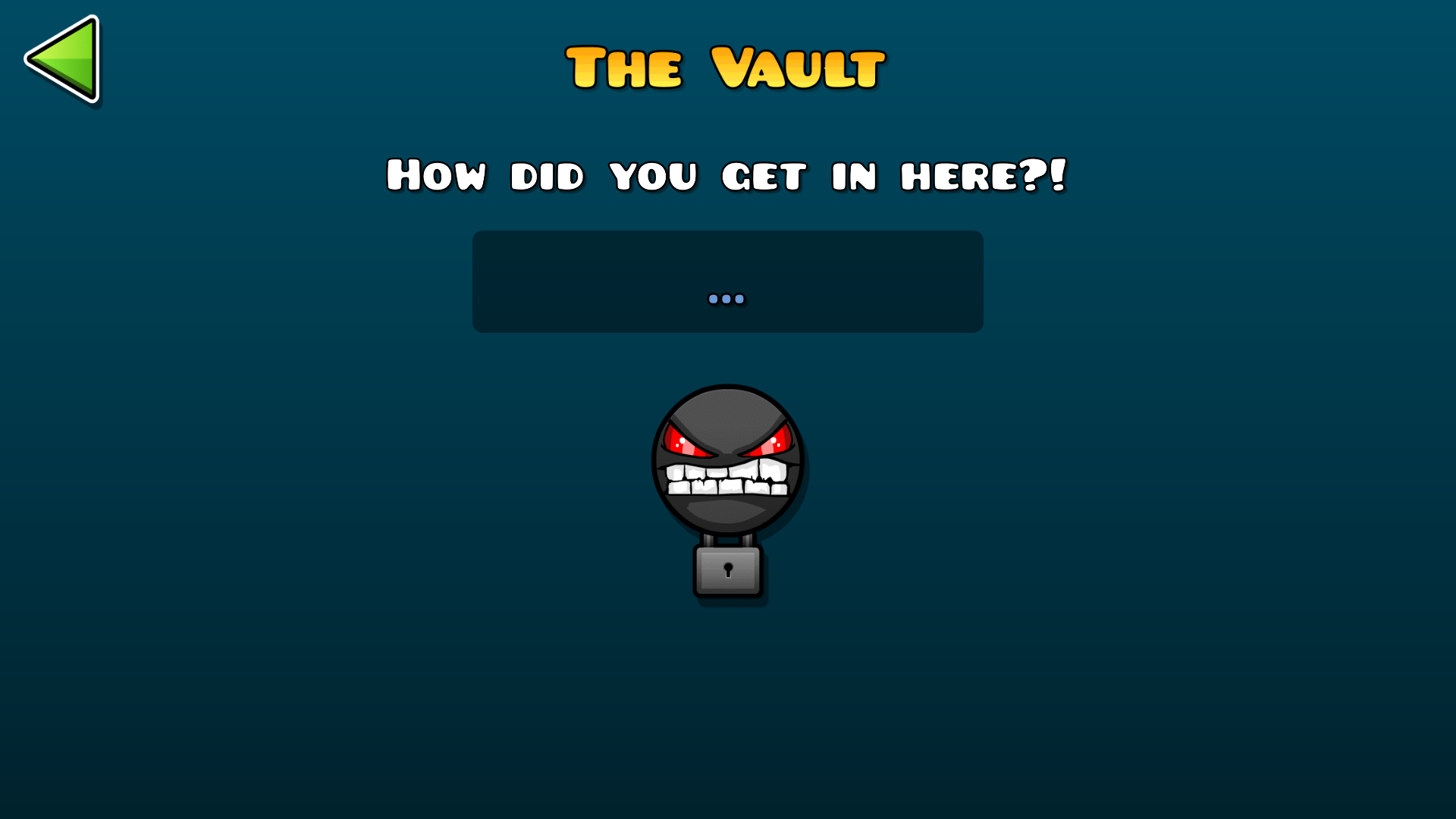 The Vault Is A Secret Feature Of Geometry Dash And Geometry Dash World,  Being Introduced In Update 2.0. It Is Located Through A Padlock In The  Upper Right ...