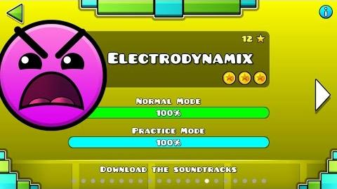 Video - Geometry Dash Nivel 15 Electrodynamix 100% (Todas las