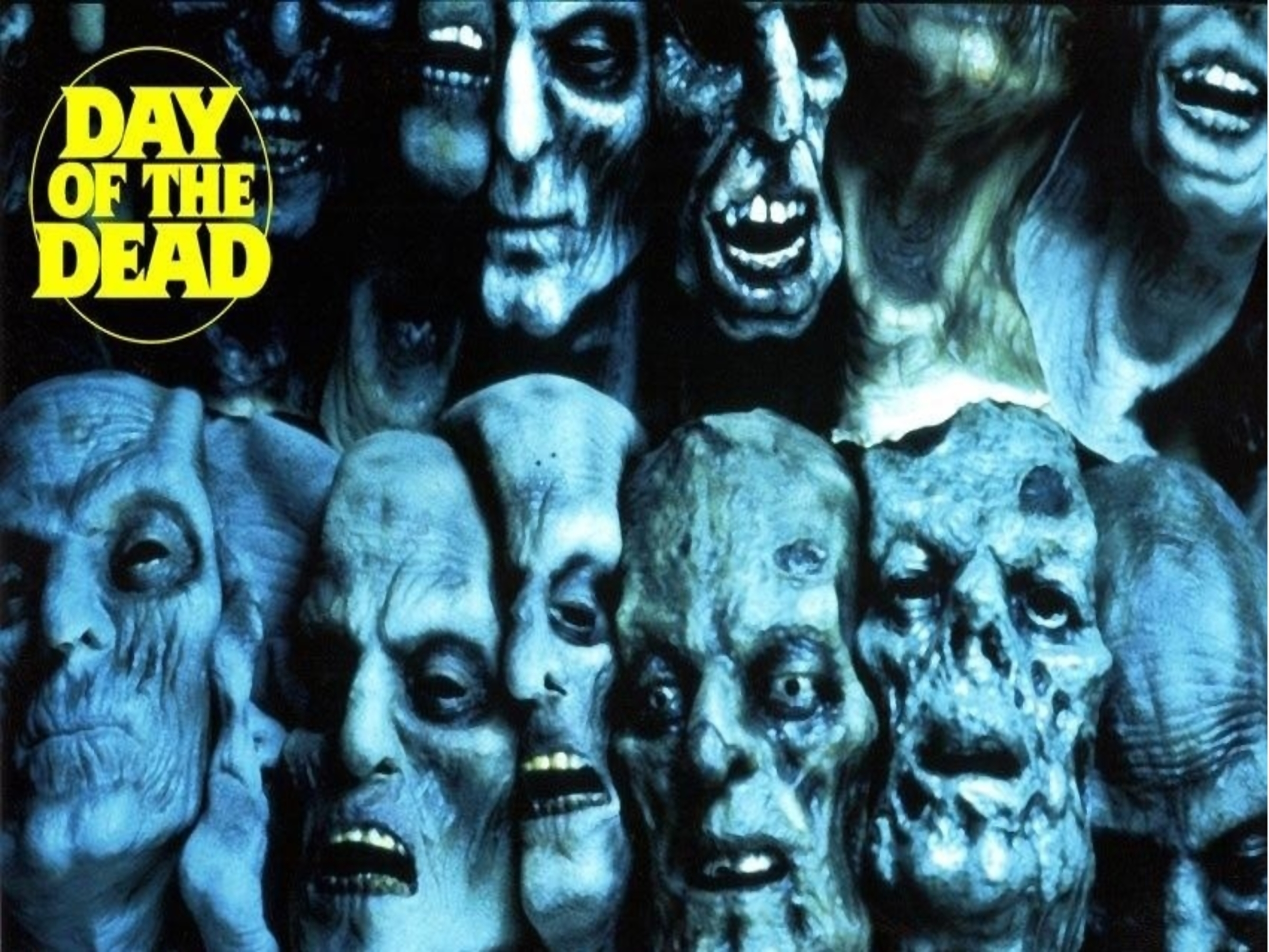 Day Of The Dead Background Zombie Mask U K Poster 2
