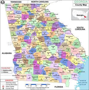 Georgia-county-map