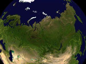 Спутниковый снимок России
