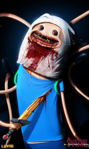 Nightmare finn adventure time by danluvisiart-d64futq