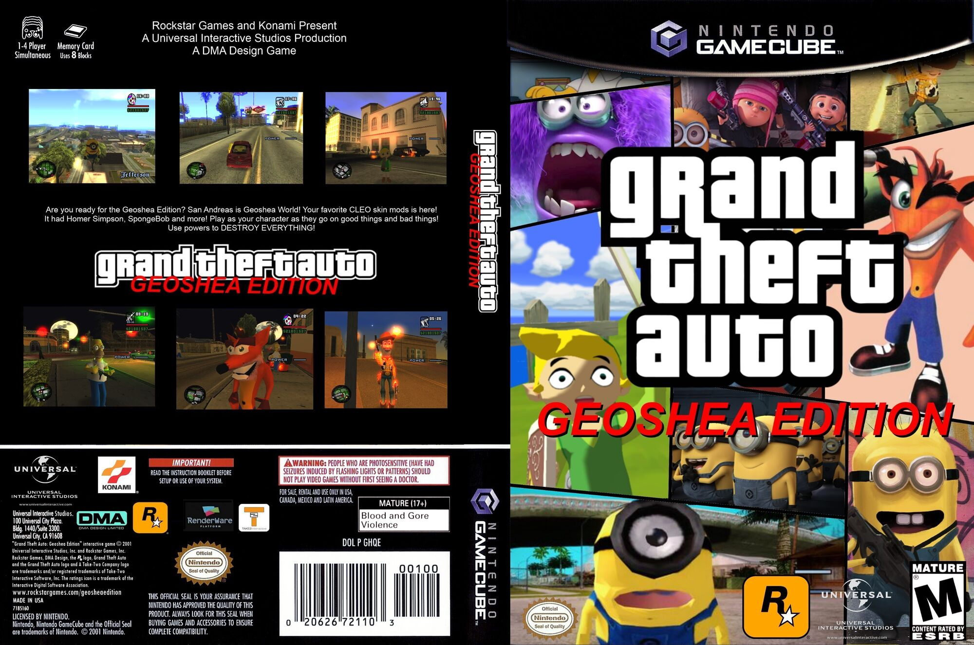 Gta 6 Cover: GTA GSE Cover Art GameCube Front And Back.jpg
