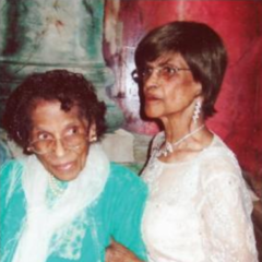 Irene Sinclair with her sister (undated photo)