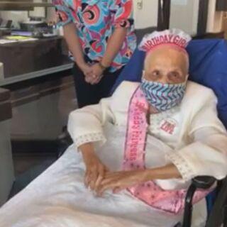 Avicia Thorpe on her 112th birthday