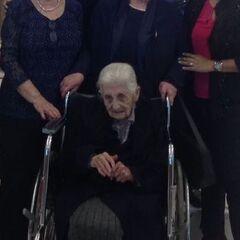 Virginia Constante on her 110th birthday.