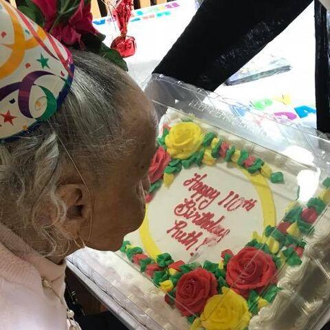 Ruth Apiladoon her 110th birthday.