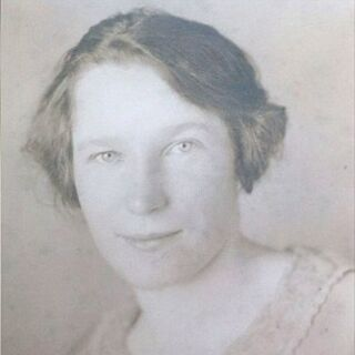 Anna Stoehr as a young woman.