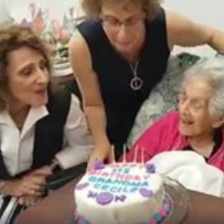 Cecile Klein on her 112th birthday.