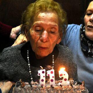 Evangelista Luisa Lopez on her 112th birthday