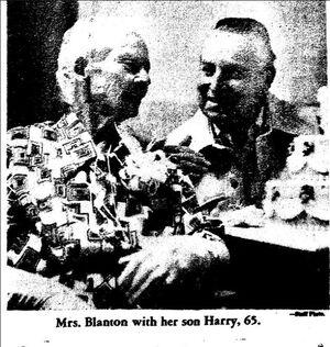 Sue Blanton 1870-1981 in 1976 picture