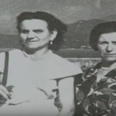 Emma Morano (right) in the 1950s age 50s with sister Angela Morano (left).