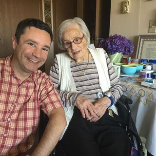 Ellison with grandson Brian