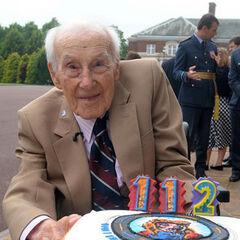 Henry Allingham on his 112th birthday.
