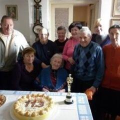 Emma Morano on her 113th birthday.