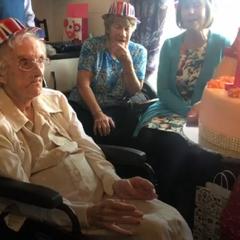 Hilda Clulow on her 111th birthday.